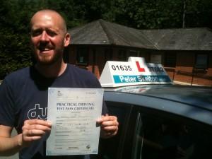 Matt Peacock - 1st time pass - Newbury driving lessons